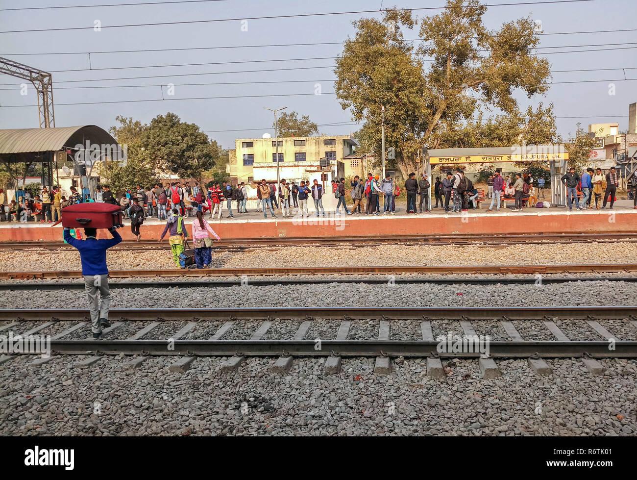 Patiala, Punjab, India  6th Dec, 2018  An Indian passenger seen
