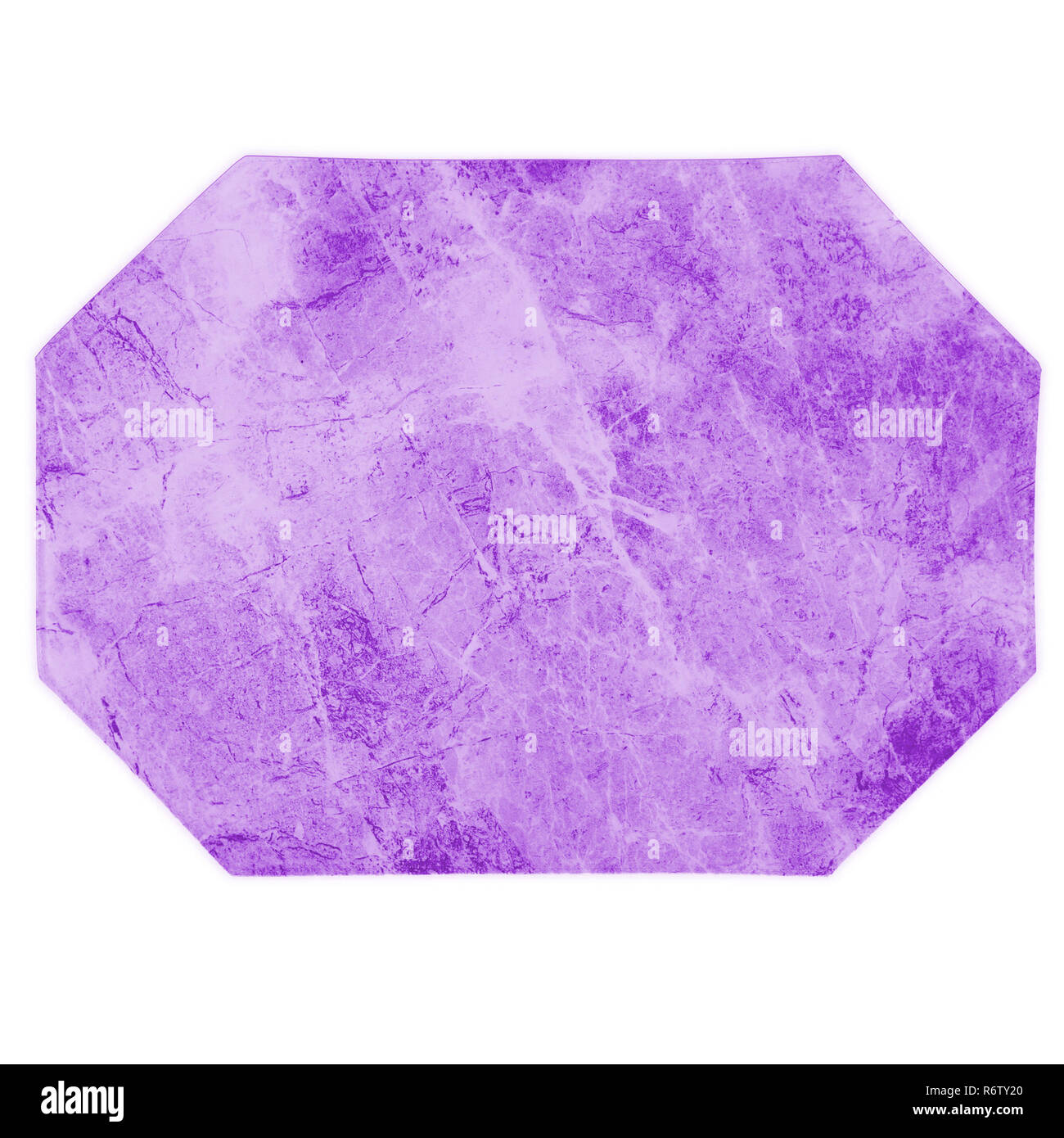 Isolated Marble Octagon Shaped Purple Kitchen Place Mat On White Background Stock Photo Alamy