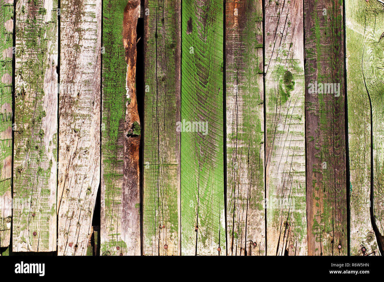 Old antique green wooden groung the background,rustic wall or table - Stock Image
