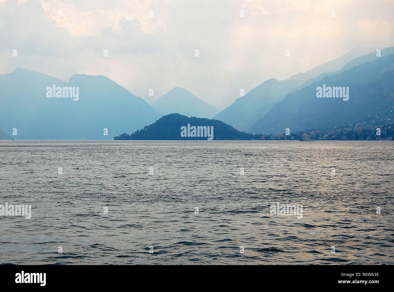 Lavedo Peninsula - Lake Como Stock Photo