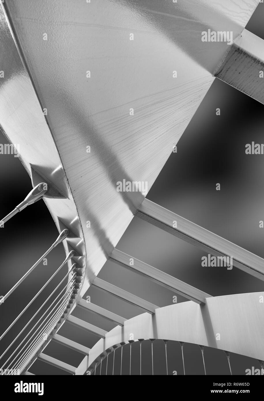 Steel construction of a bridge in Zurich Switzerland - Stock Image