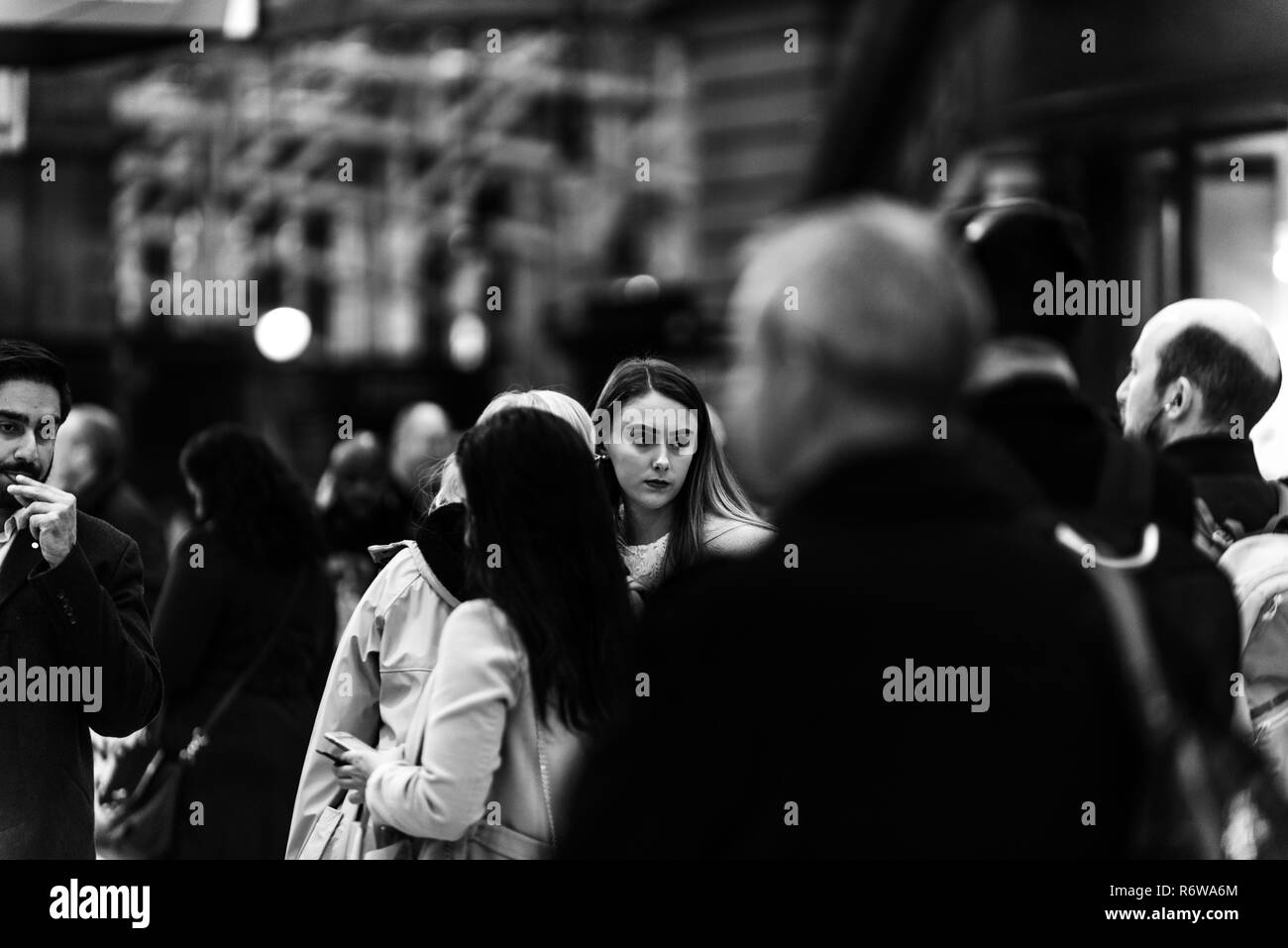 This image was shot in Glasgow City centre, Scotland during the busy rush hour. This were part of a college brief called rush hour for COGC. - Stock Image