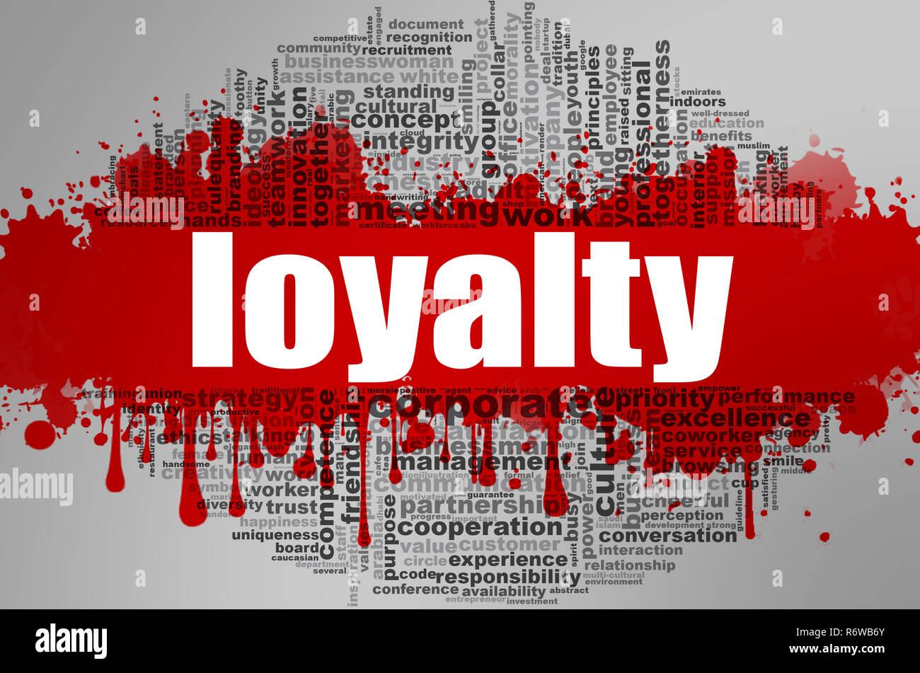 Loyalty word cloud Stock Photo