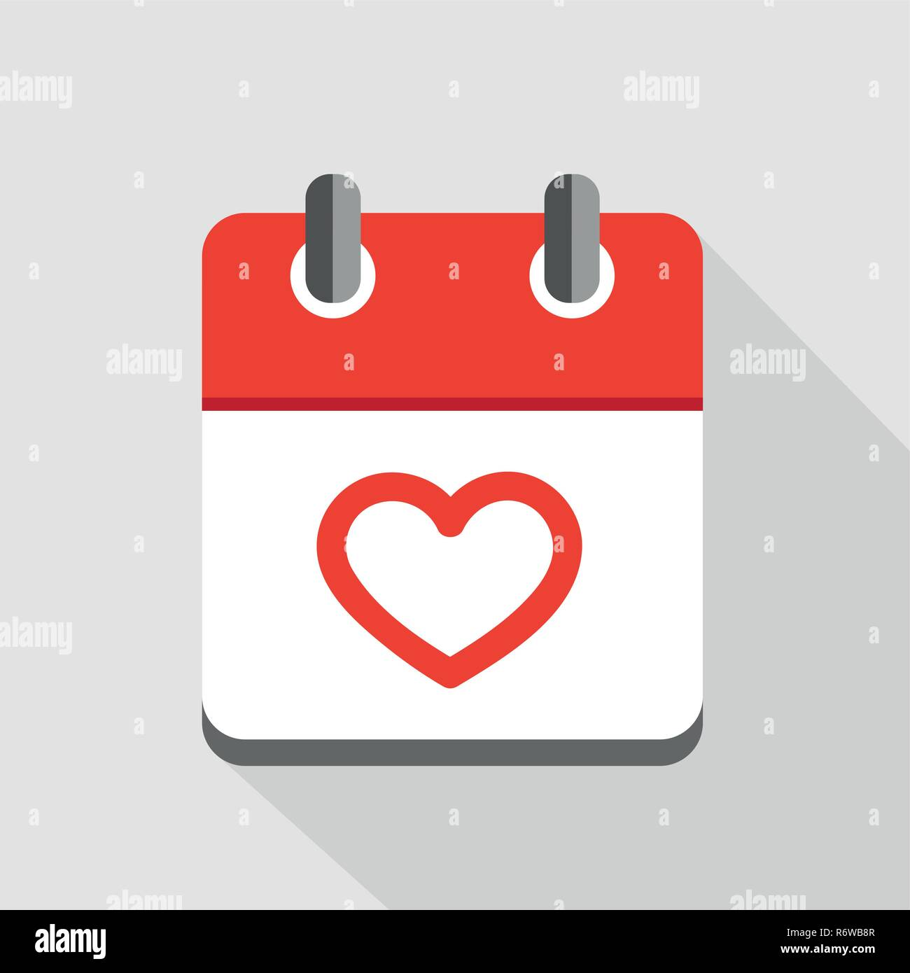red heart in calendar icon valentines day symbol vector illustration EPS10 Stock Vector