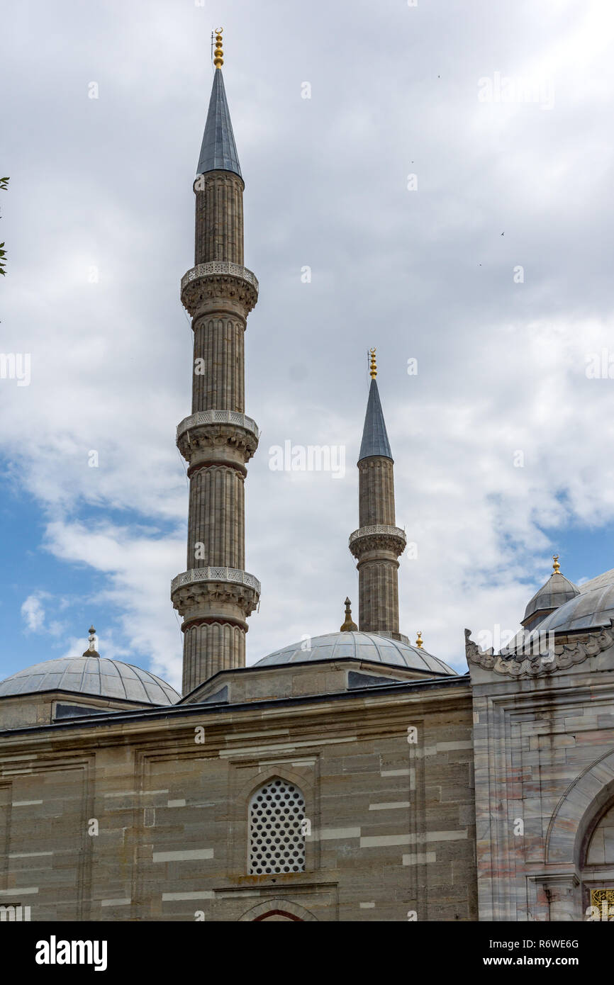 EDIRNE, TURKEY - MAY 26, 2018: Built between 1569 and 1575 Selimiye Mosque  in city of Edirne,  East Thrace, Turkey - Stock Image
