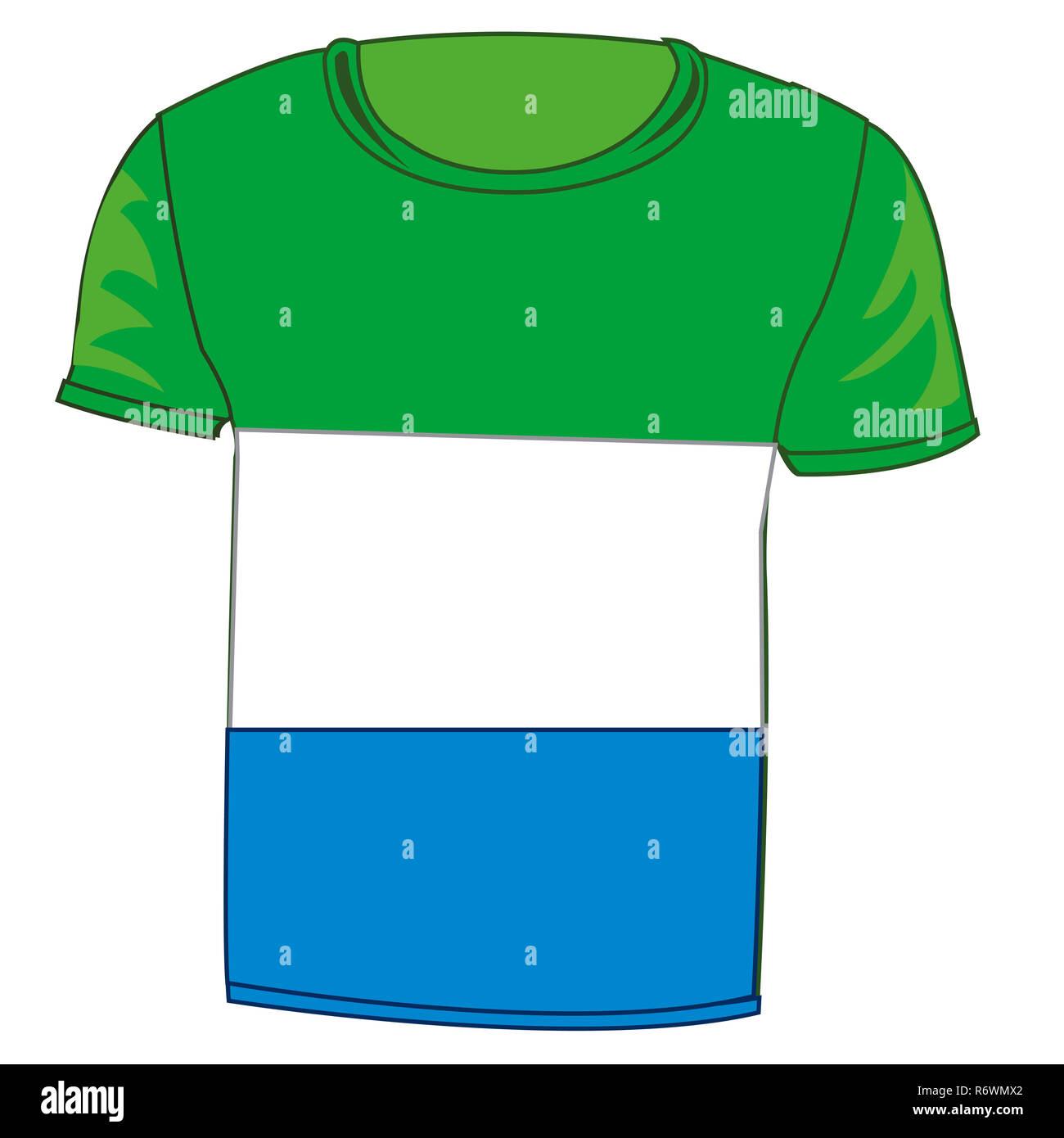 T-shirt flag Sierra - Leone - Stock Image