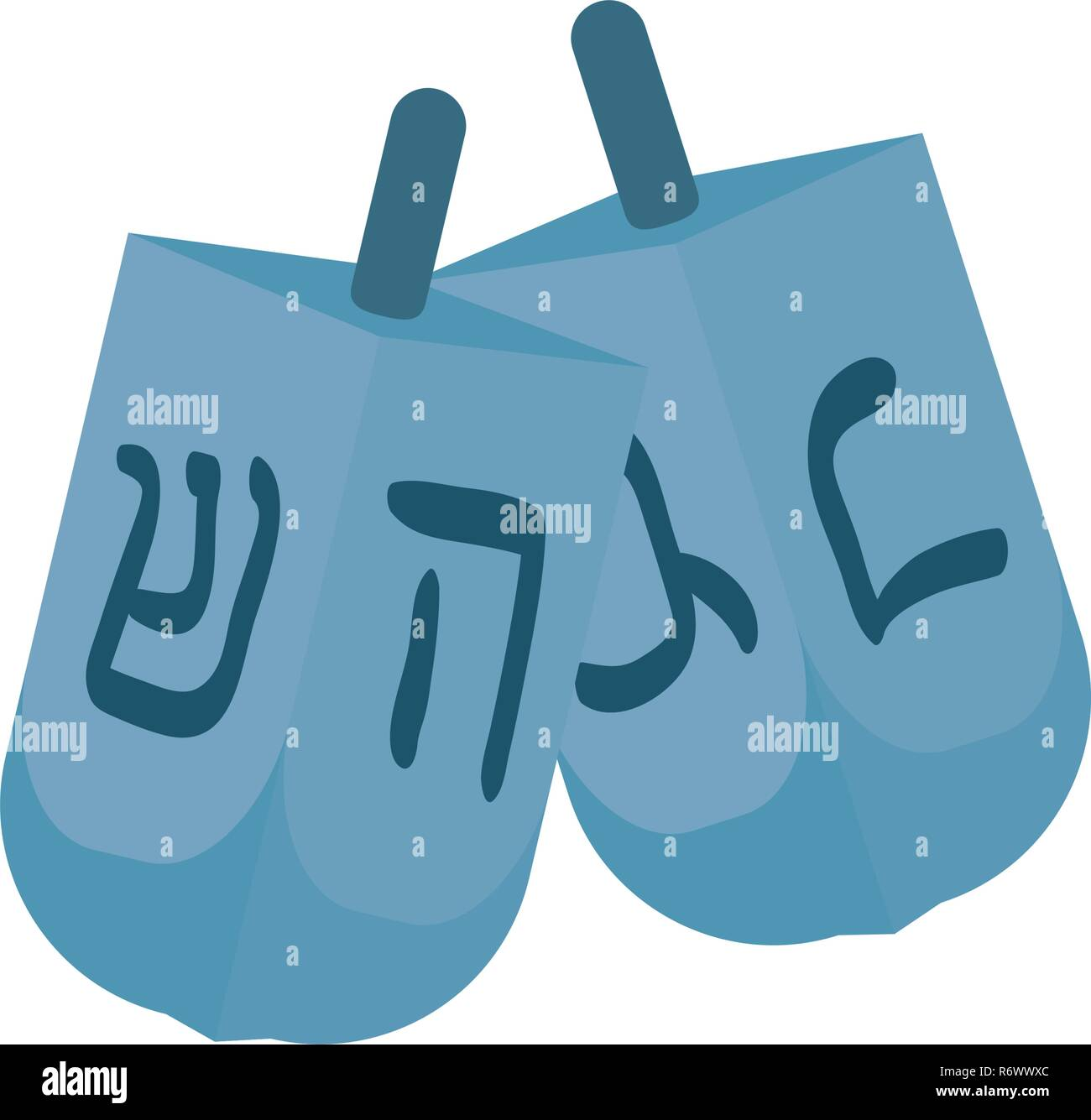 Jewish dreidel hanukkah icon vector illustration design - Stock Image