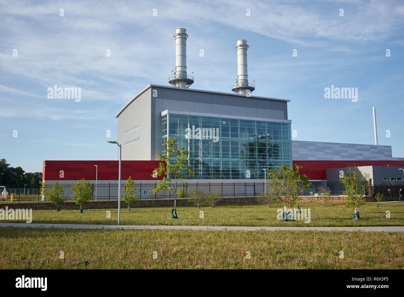 Gas-fired power plant built in 2017 in Holland, Michigan - Stock Image