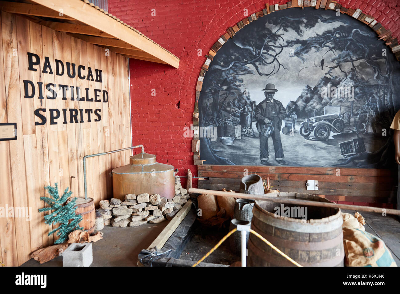 The Moonshine Company distillery in Paducah, Kentucky - Stock Image