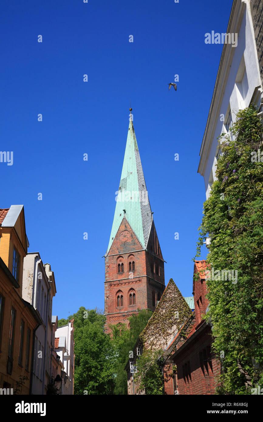St. Aegidienkirche, Aegidien church, Lübeck, Luebeck, Schleswig-Holstein, Germany, Europe Stock Photo