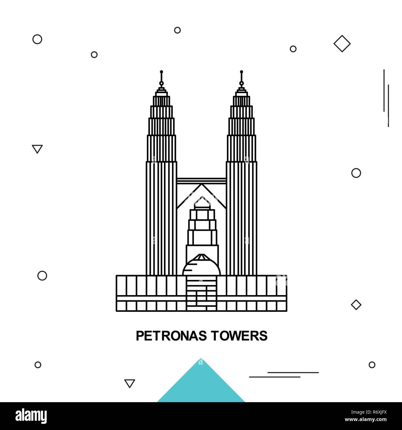 PETRONAS TOWERS - Stock Vector