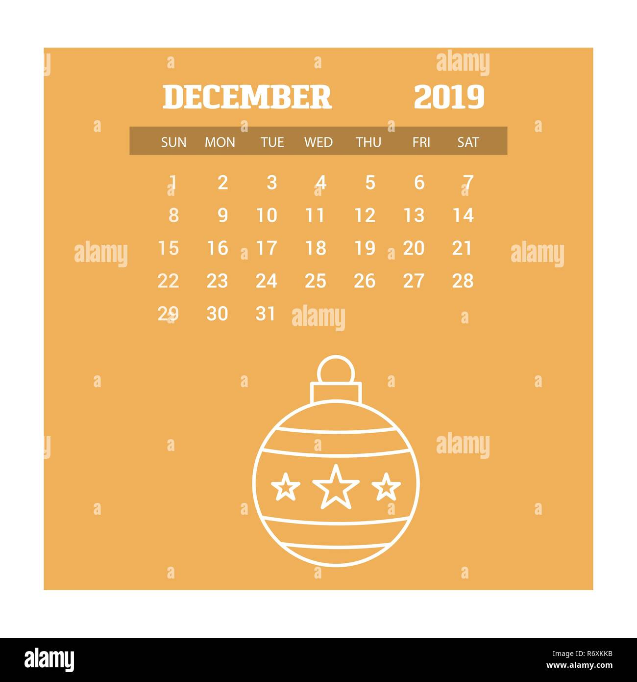 2019 happy new year december calendar template christmas background