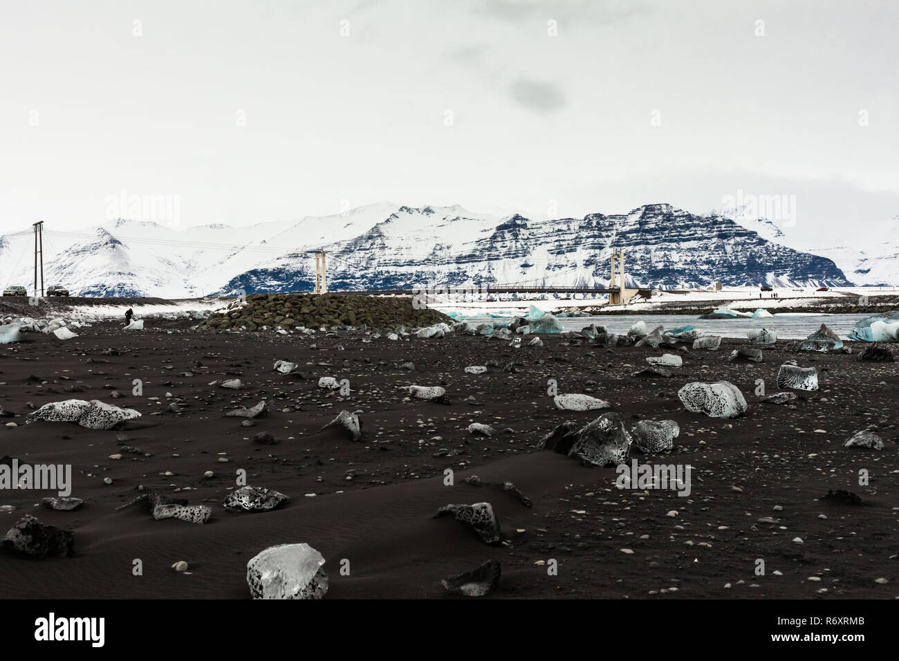 Jokulsarlon is a glacial lagoon or better known as Iceberg Lagoon which located in Vatnajokull National Park Iceland Stock Photo