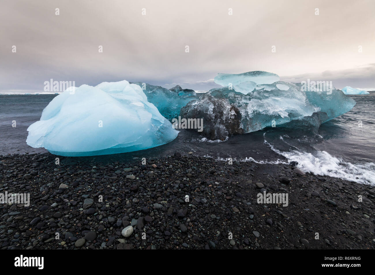 Jokulsarlon is a glacial lagoon or better known as Iceberg Lagoon which located in Vatnajokull National Park Iceland - Stock Image