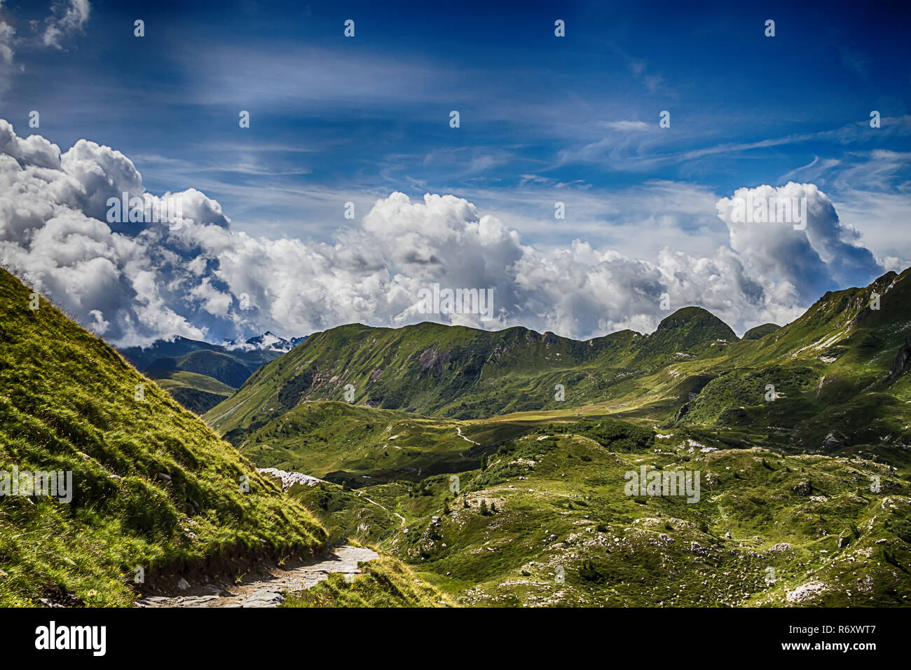 beautyfull mountain landscape. alps montains in bagolino,province of brescia,italy. - Stock Image