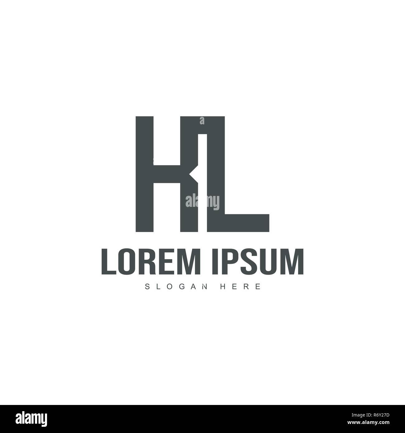 Initial letter logo template. Minimalist letter logo template design - Stock Vector