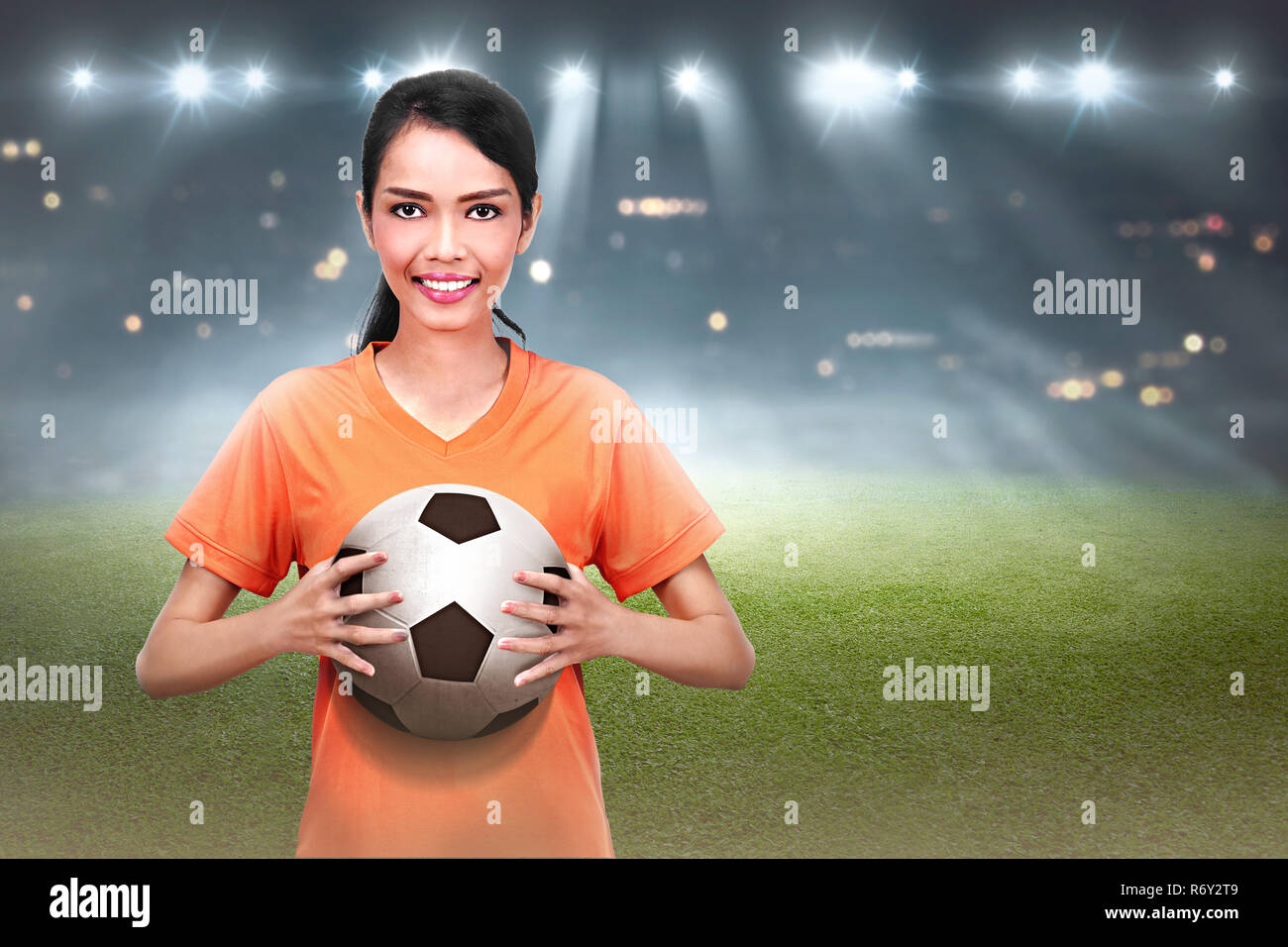 Remarkable, asian girls playing football are certainly
