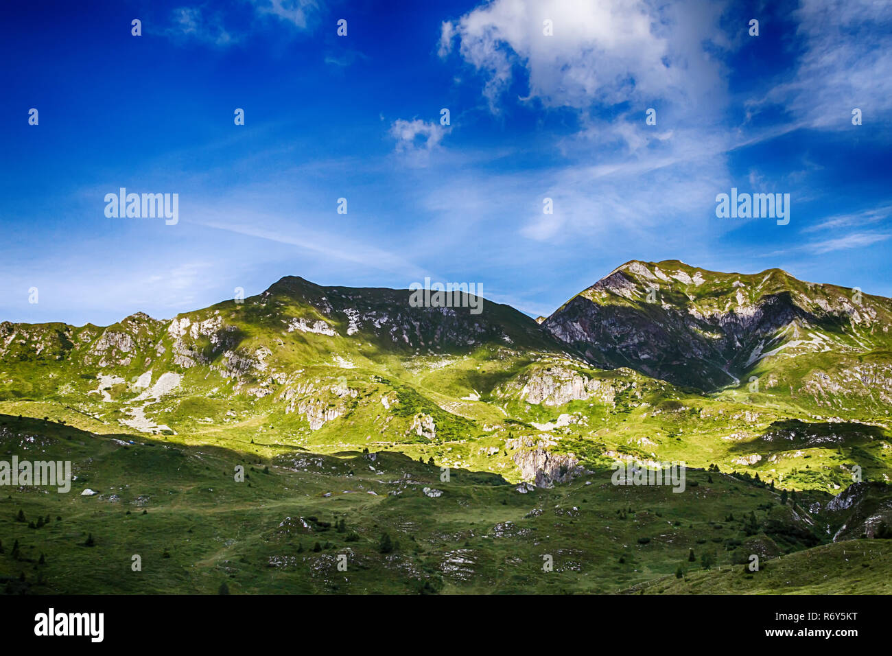 beautyfull mountain landscape in bagolino - Stock Image