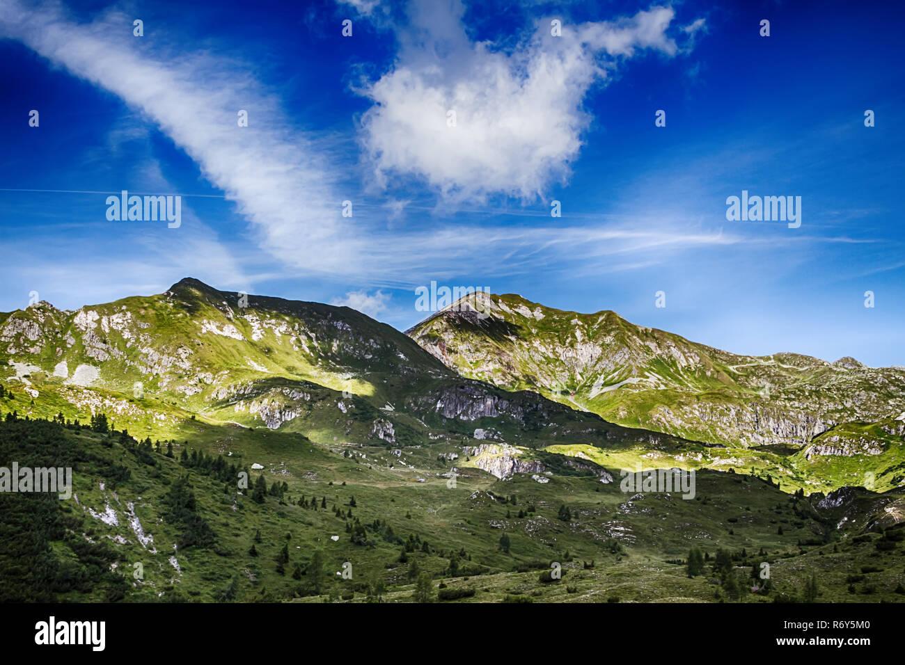 beautyfull mountain landscape in bagolino,brescia - Stock Image