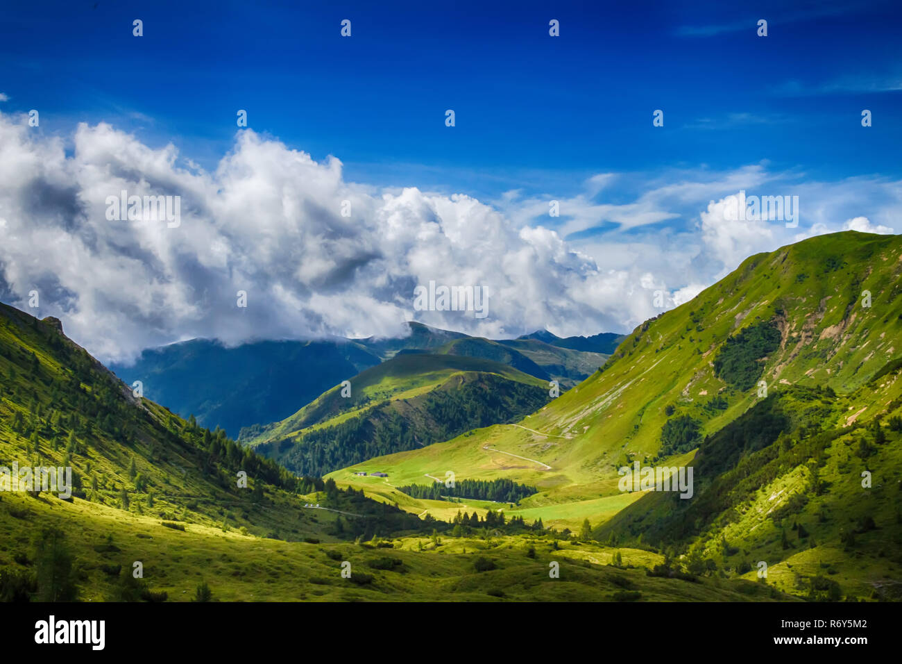 beautyfull mountain landscape in bagolino,lombardy,italy - Stock Image