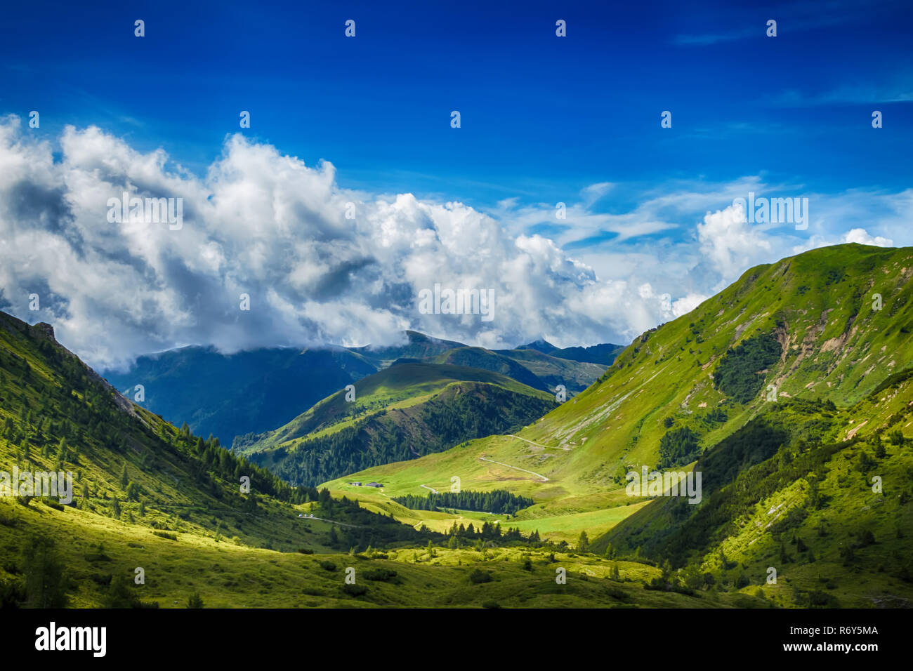 mountain landscape in bagolino,lombardy,italy - Stock Image