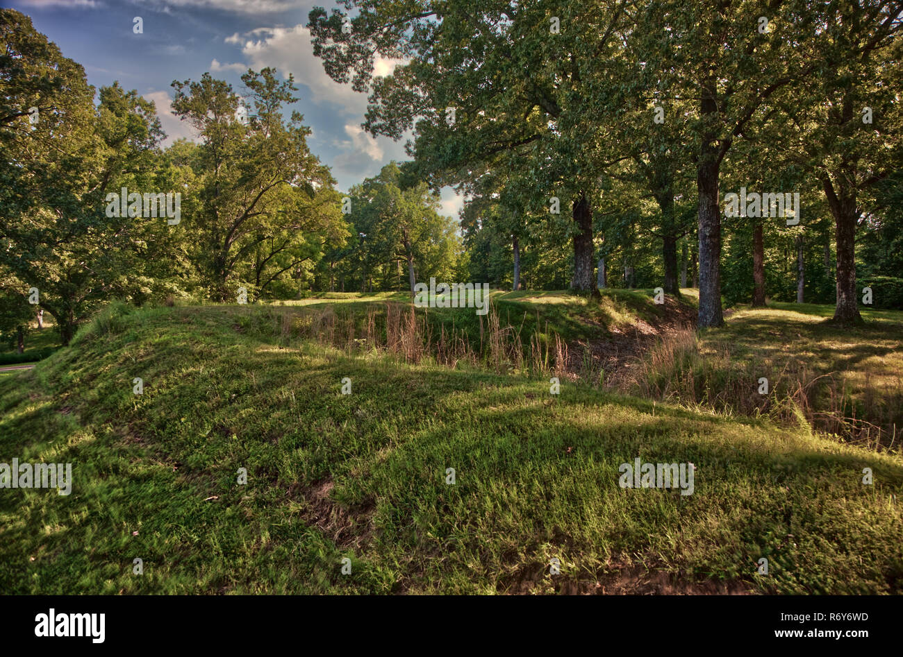 Fort Donelson National Battlefield Earth Works - Stock Image
