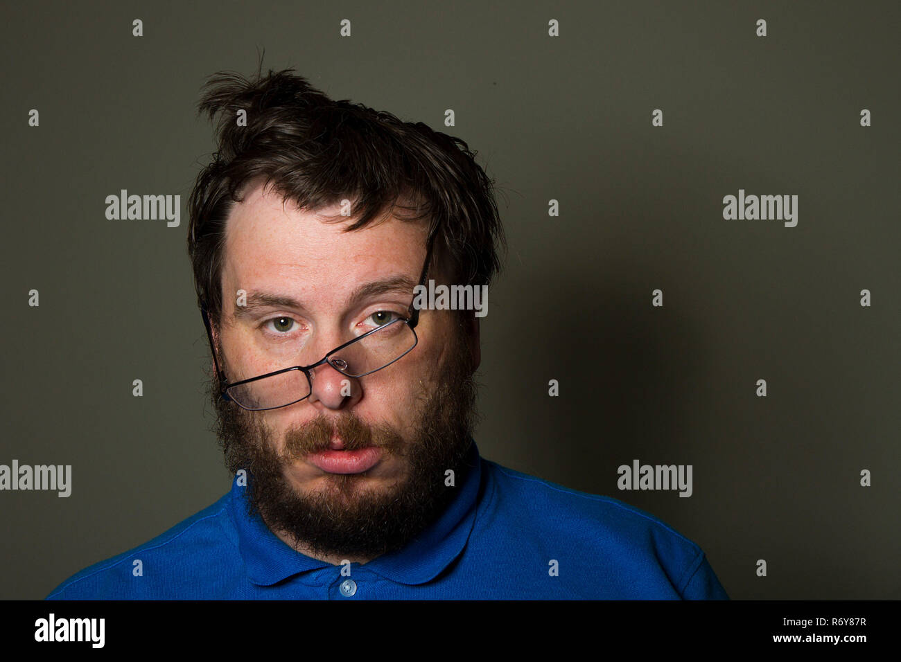 guy who has seen better days - Stock Image
