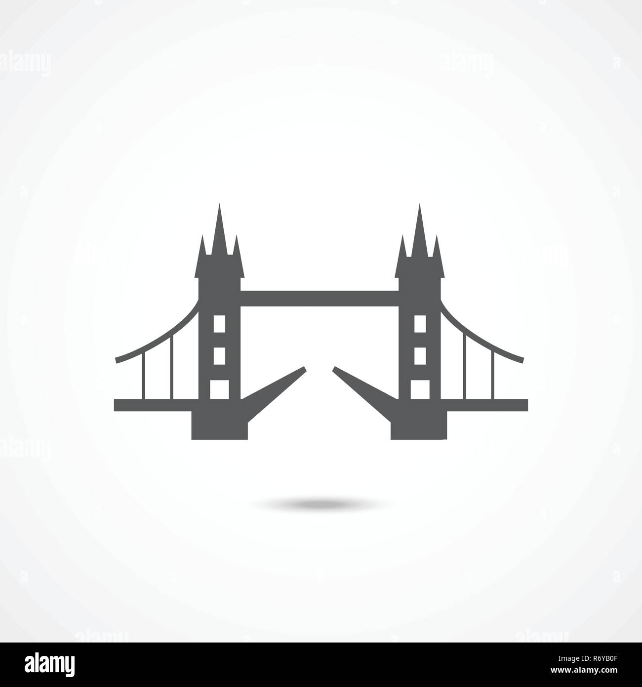 London Tower Bridge icon - Stock Vector