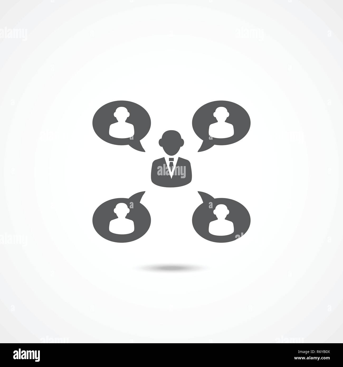 Sociability Vector Icon - Stock Image