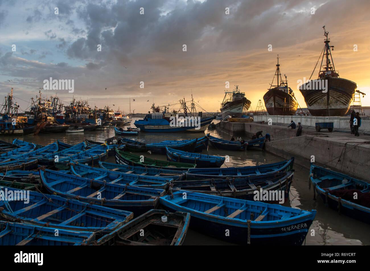 Fishing port of Essaouira, Morocco Stock Photo