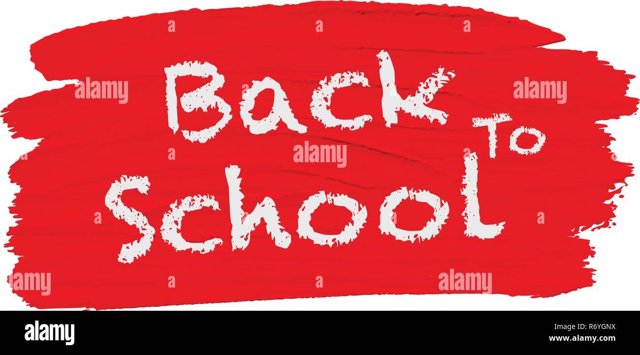 Back to school logo illustration - Stock Image