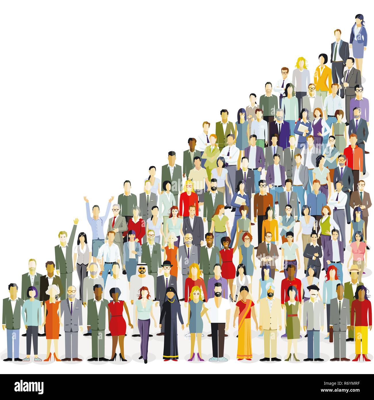 an international population,illustration Stock Photo