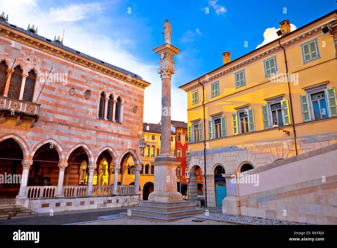 Piazza della Liberta square in Udine landmarks view - Stock Image