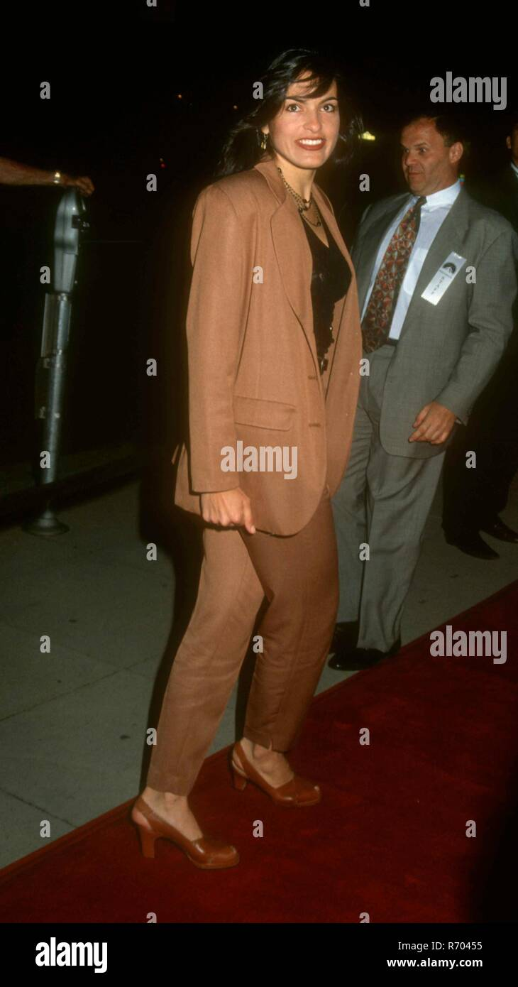 BEVERLY HILLS, CA - APRIL 6: Actress Mariska Hargitay attends the 'Indecent Proposal' Premiere on April 6, 1993 at the Samuel Goldwyn Theatre in Beverly Hills, California. Photo by Barry King/Alamy Stock Photo - Stock Image