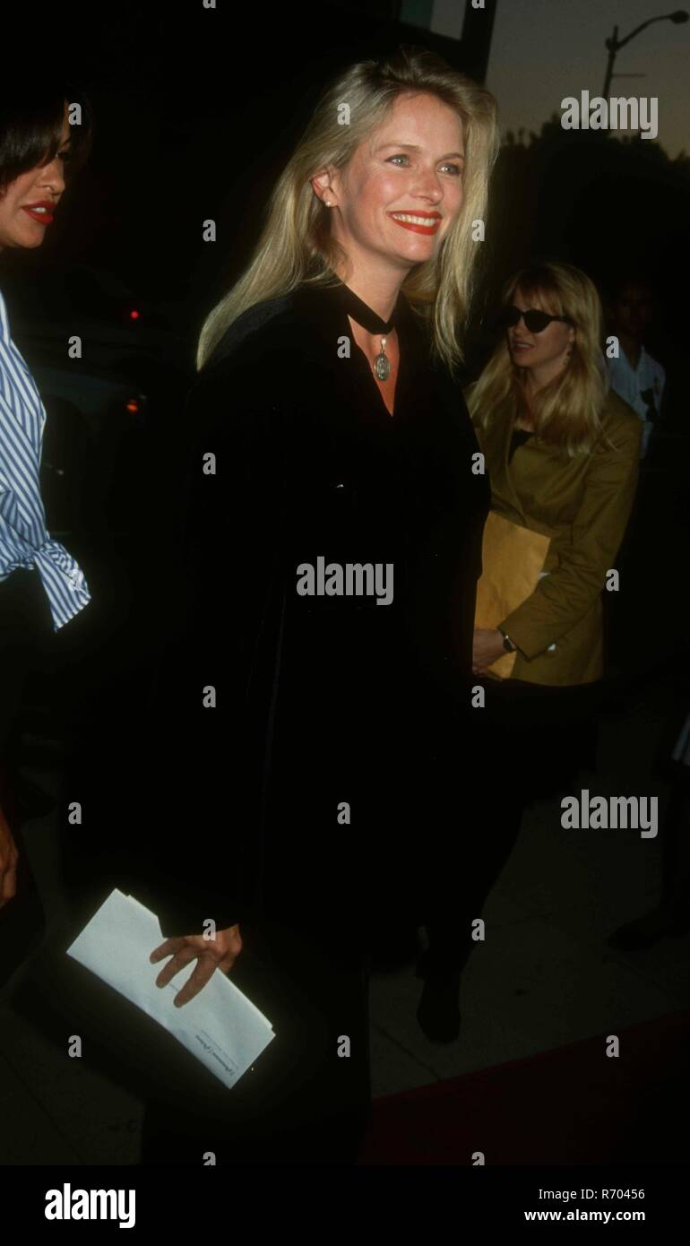 BEVERLY HILLS, CA - APRIL 6: Actress Donna Dixon attends the 'Indecent Proposal' Premiere on April 6, 1993 at the Samuel Goldwyn Theatre in Beverly Hills, California. Photo by Barry King/Alamy Stock Photo - Stock Image