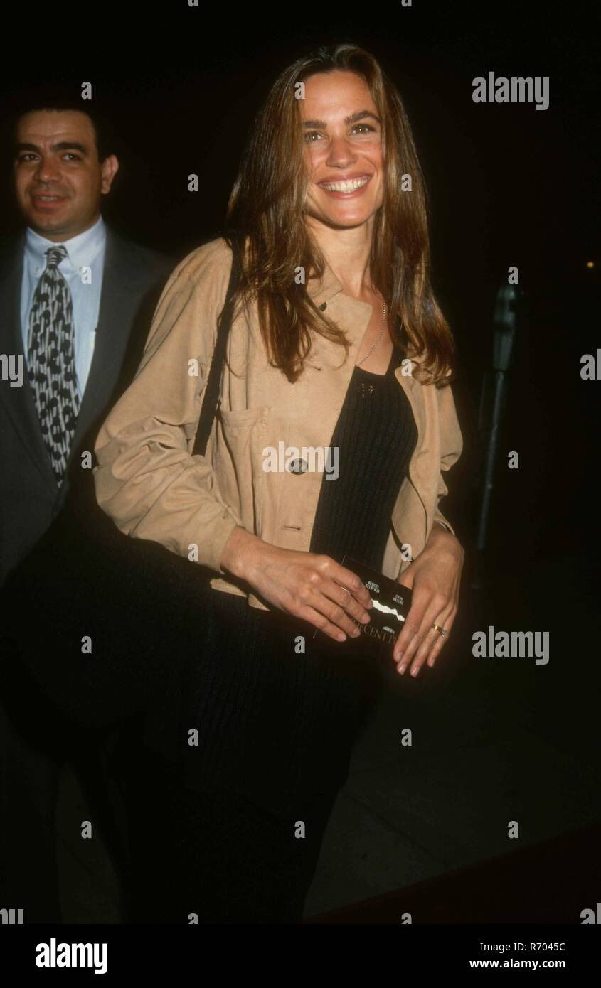 BEVERLY HILLS, CA - APRIL 6: Actress Chelsea Noble attends the 'Indecent Proposal' Premiere on April 6, 1993 at the Samuel Goldwyn Theatre in Beverly Hills, California. Photo by Barry King/Alamy Stock Photo - Stock Image