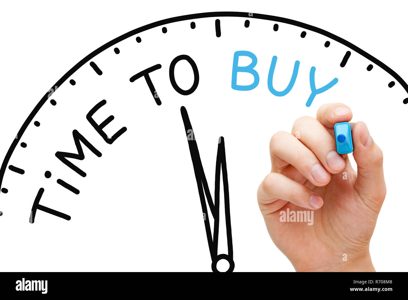 Time To Buy Clock Concept - Stock Image