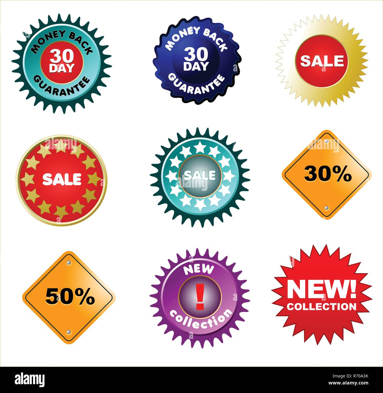 Set of badges and price tags, sale tags for your design