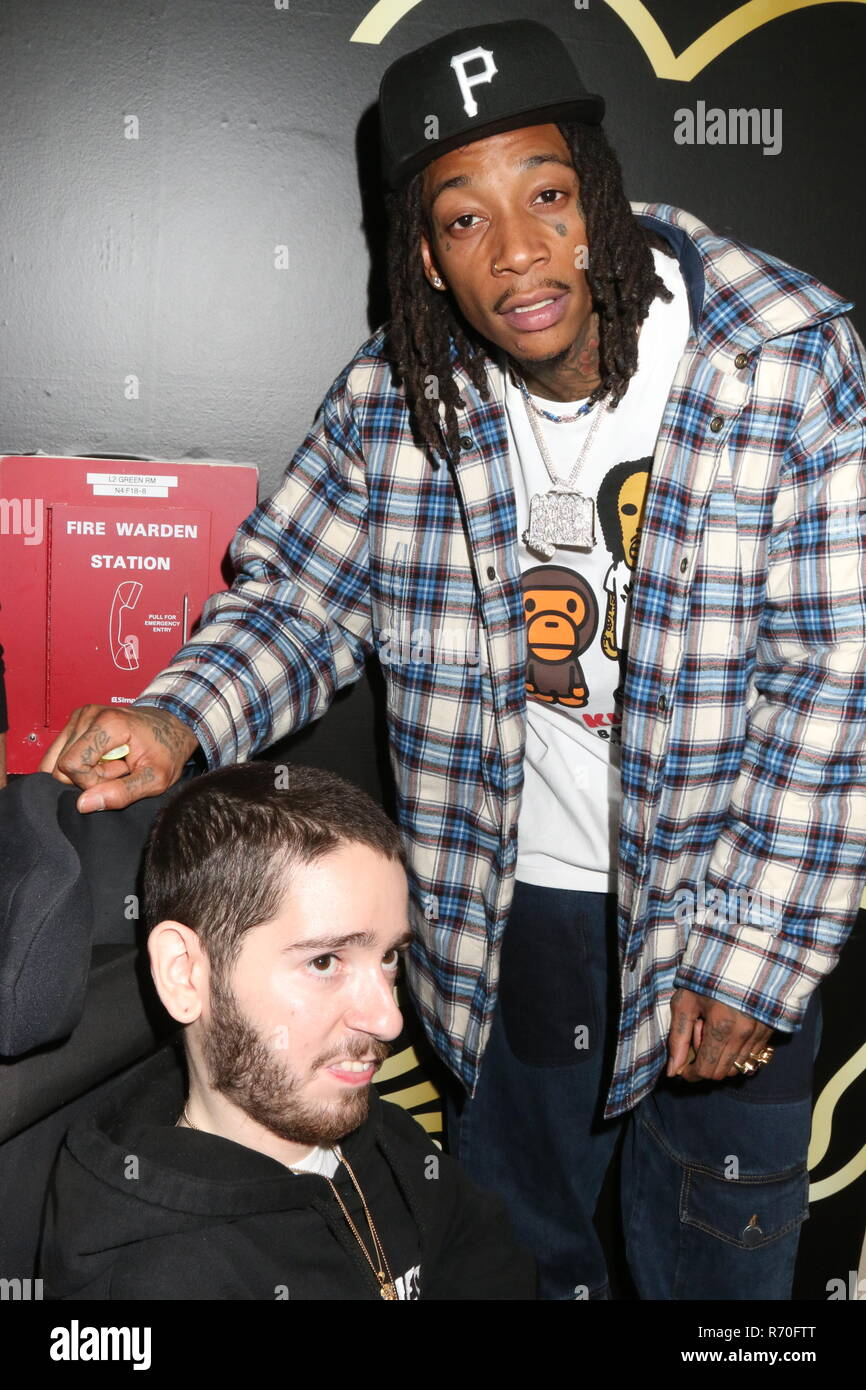 New York, NY, USA  6th Dec, 2019  Wiz Khalifa backstage at