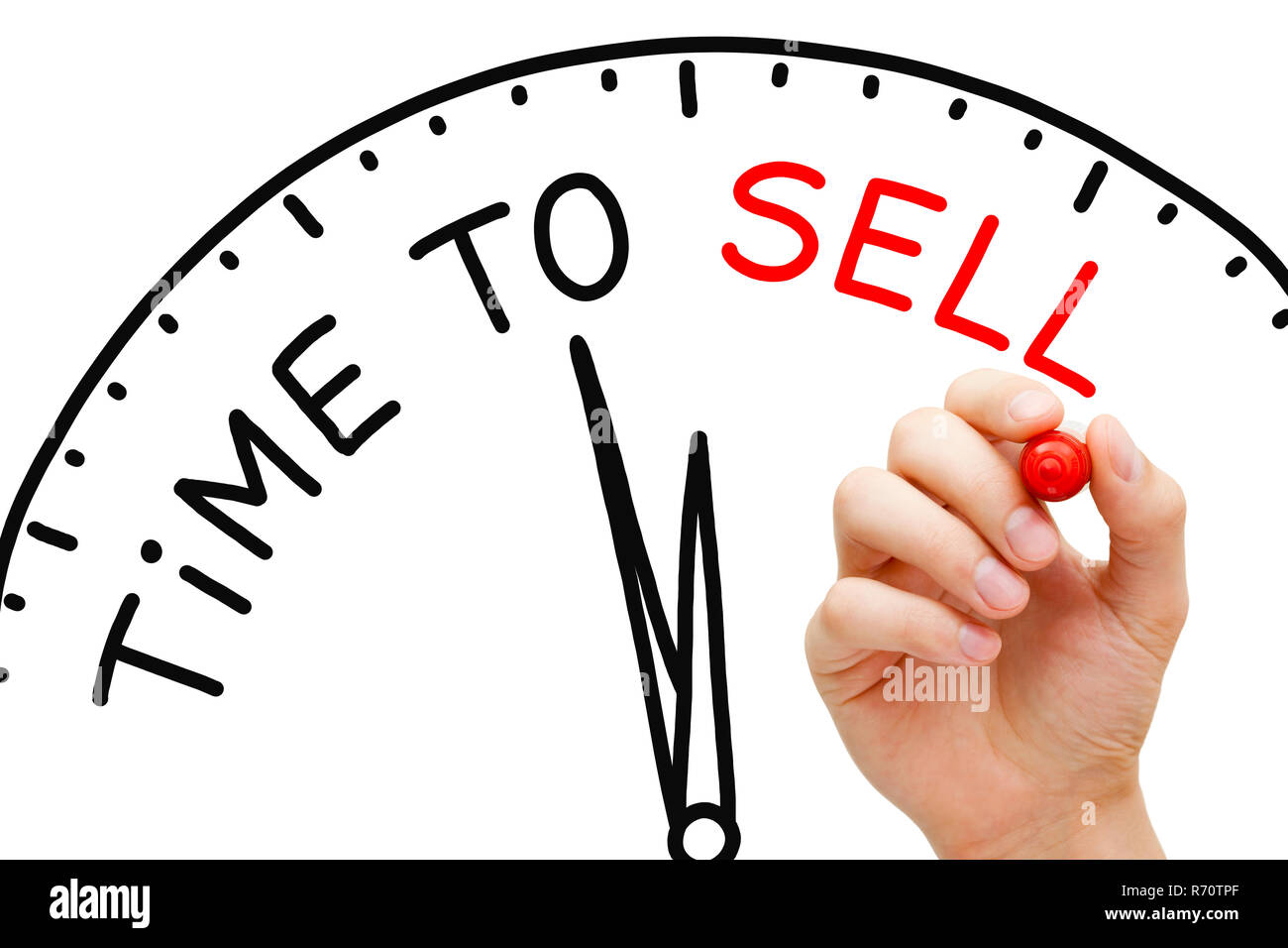 Time to Sell Clock Concept - Stock Image