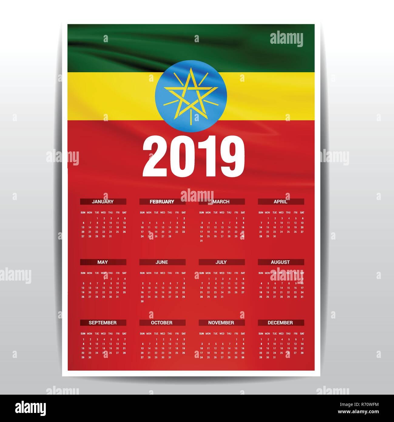 Ethiopian Calendar Stock Photos & Ethiopian Calendar Stock