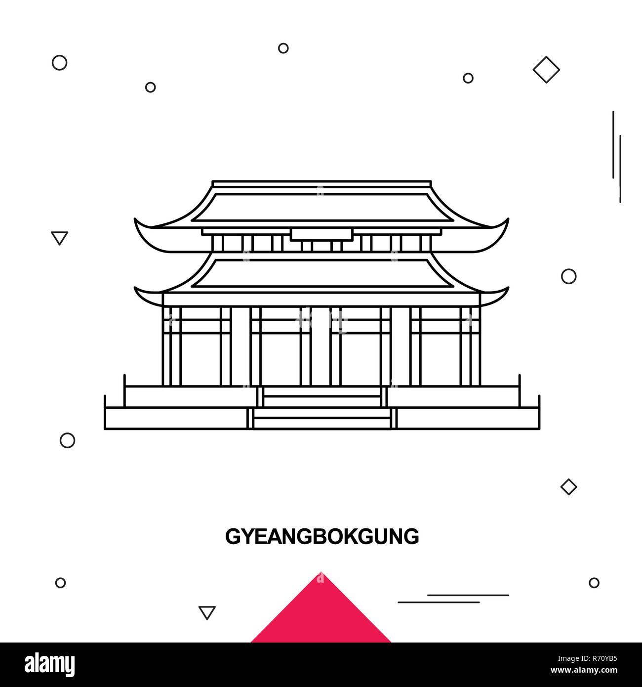 south korea travel vector poster stock photos  u0026 south
