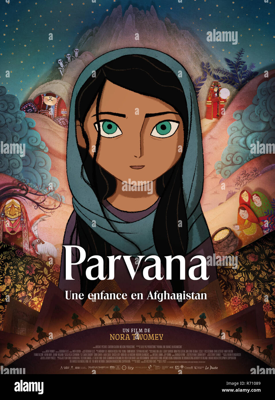 RELEASE DATE: November 17, 2017 TITLE: The Breadwinner STUDIO: DIRECTOR: Nora Twomey PLOT: In 2001, Afghanistan is under the control of the Taliban. When her father is captured, a determined young girl disguises herself as a boy in order to provide for her family. STARRING: Saara Chaudry, Soma Chhaya, Noorin Gulamgaus. (Credit Image: © Aircraft Pictures/Entertainment Pictures) - Stock Image