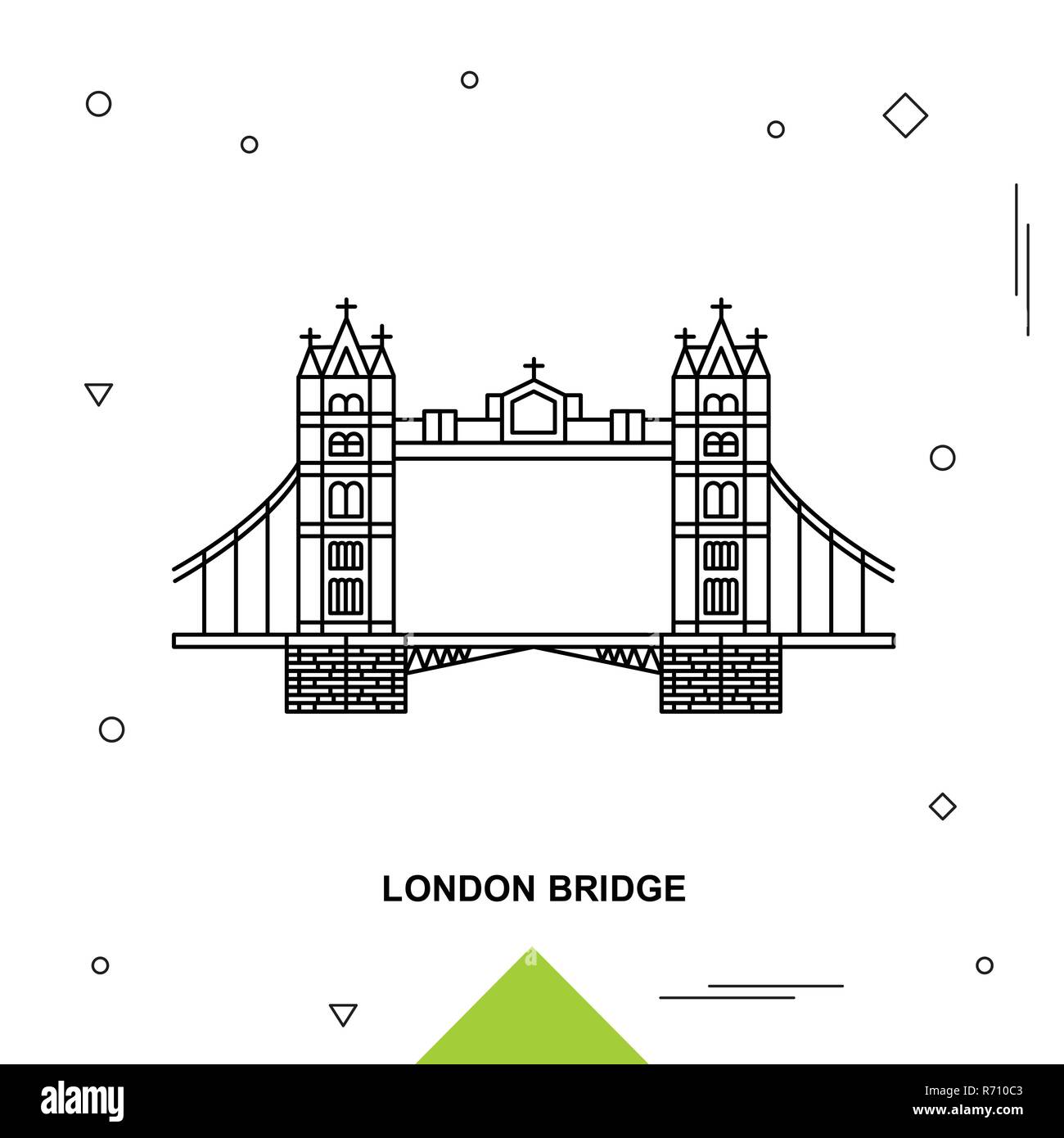 LONDON BRIDGE - Stock Vector