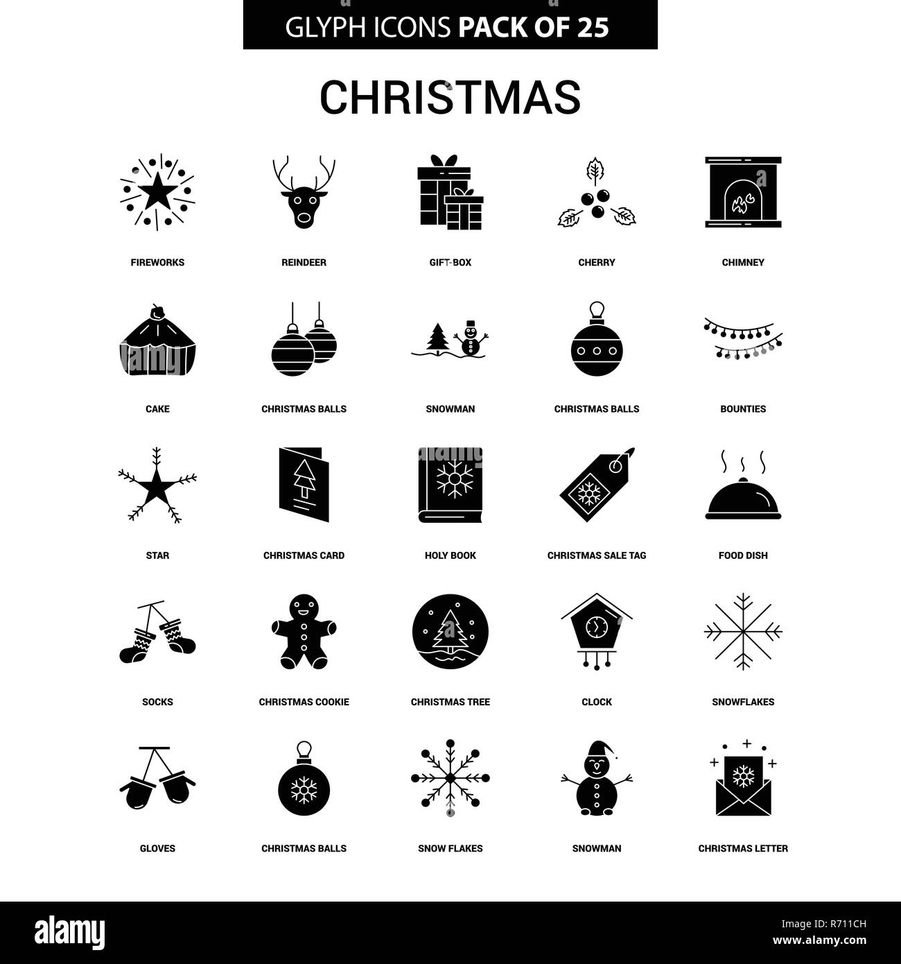 Christmas Gift Tag Black and White Stock Photos & Images - Alamy