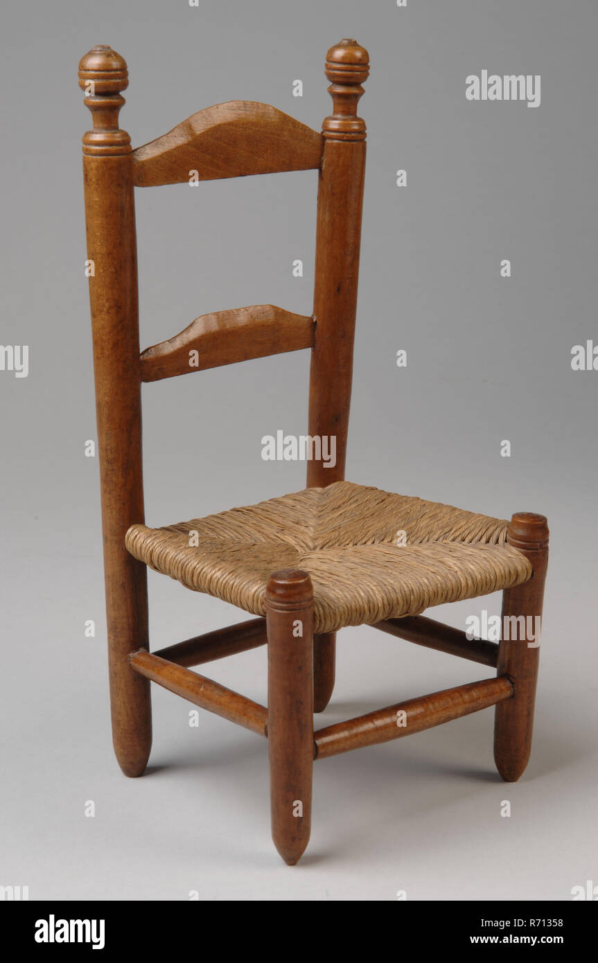 Te Poel, Miniature wooden kitchen chair, chair reclining furniture