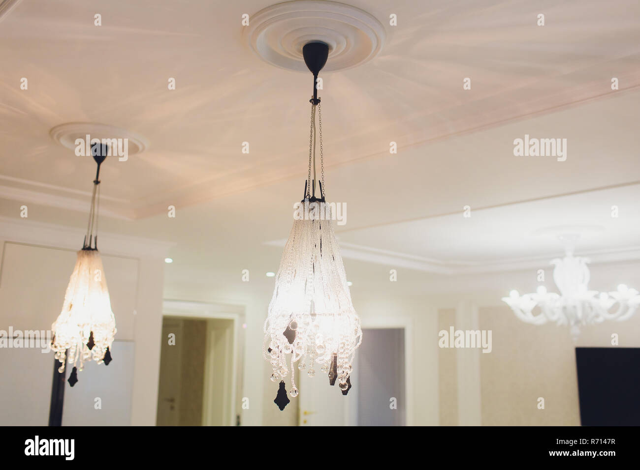 Modern Chandeliers For House The Best Lighting For Every Room Bedroom Lamps Expressive Light Fixtures Chandelier For Decor Stock Photo Alamy