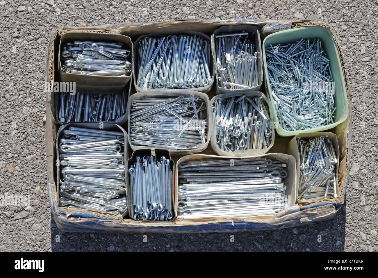 Split Pins Stock Photo