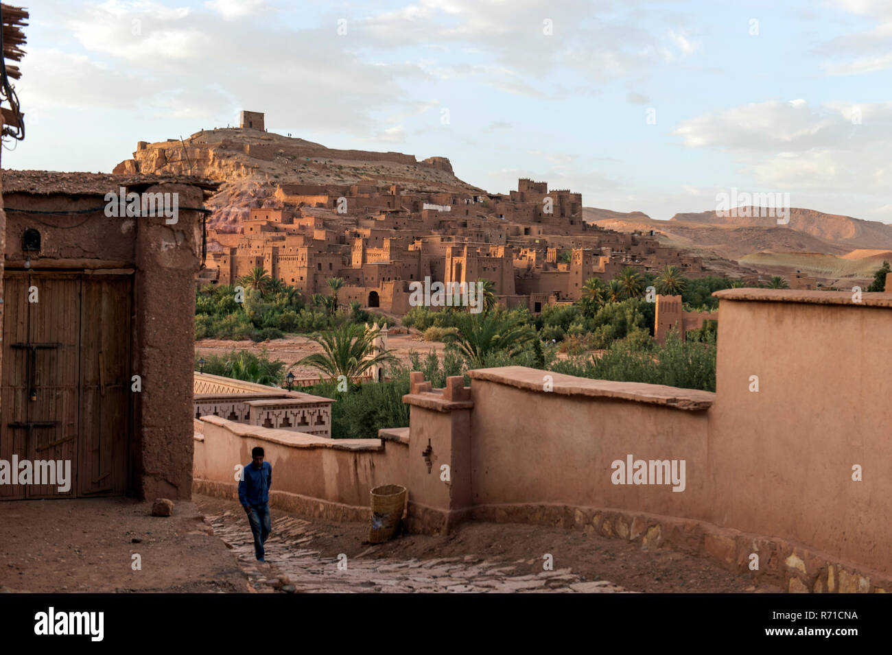 Ait Bennadou, the desert town used for movie making, near Ourzazate Stock Photo