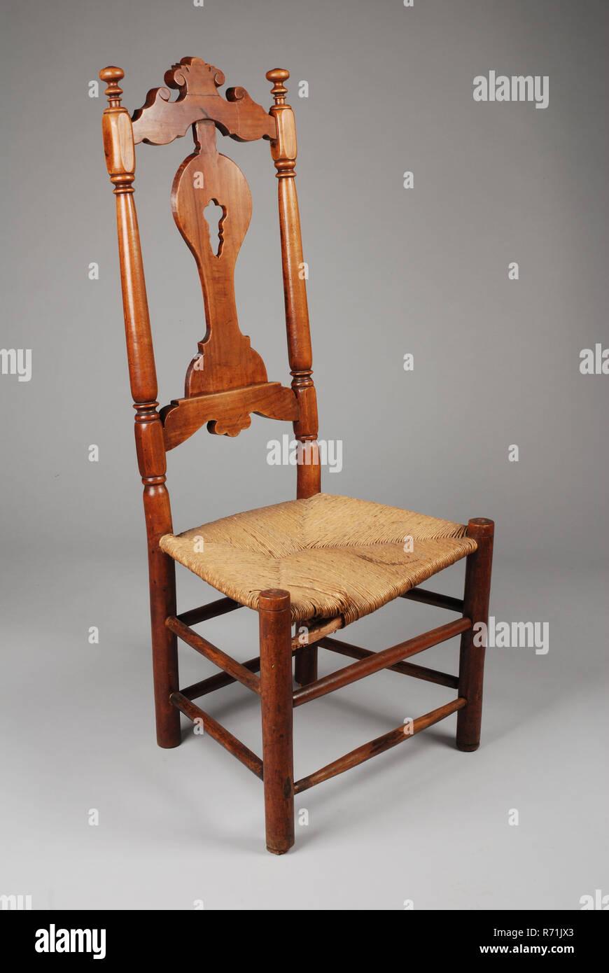 Cherry-wood straight chair, chair furniture furniture interior